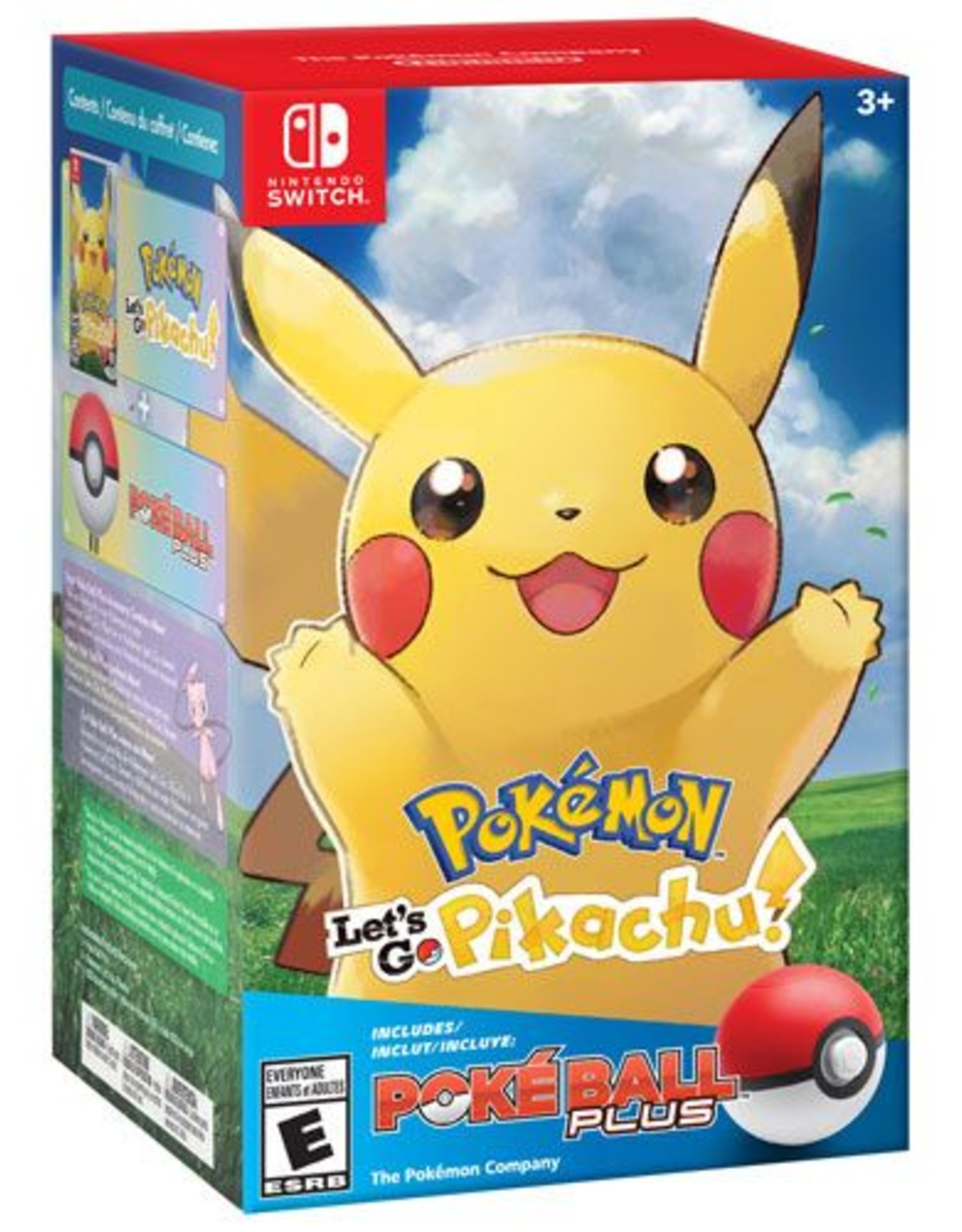 Pokemon Let's Go Pikachu Poke Ball Plus Bundle - SWITCH NEW