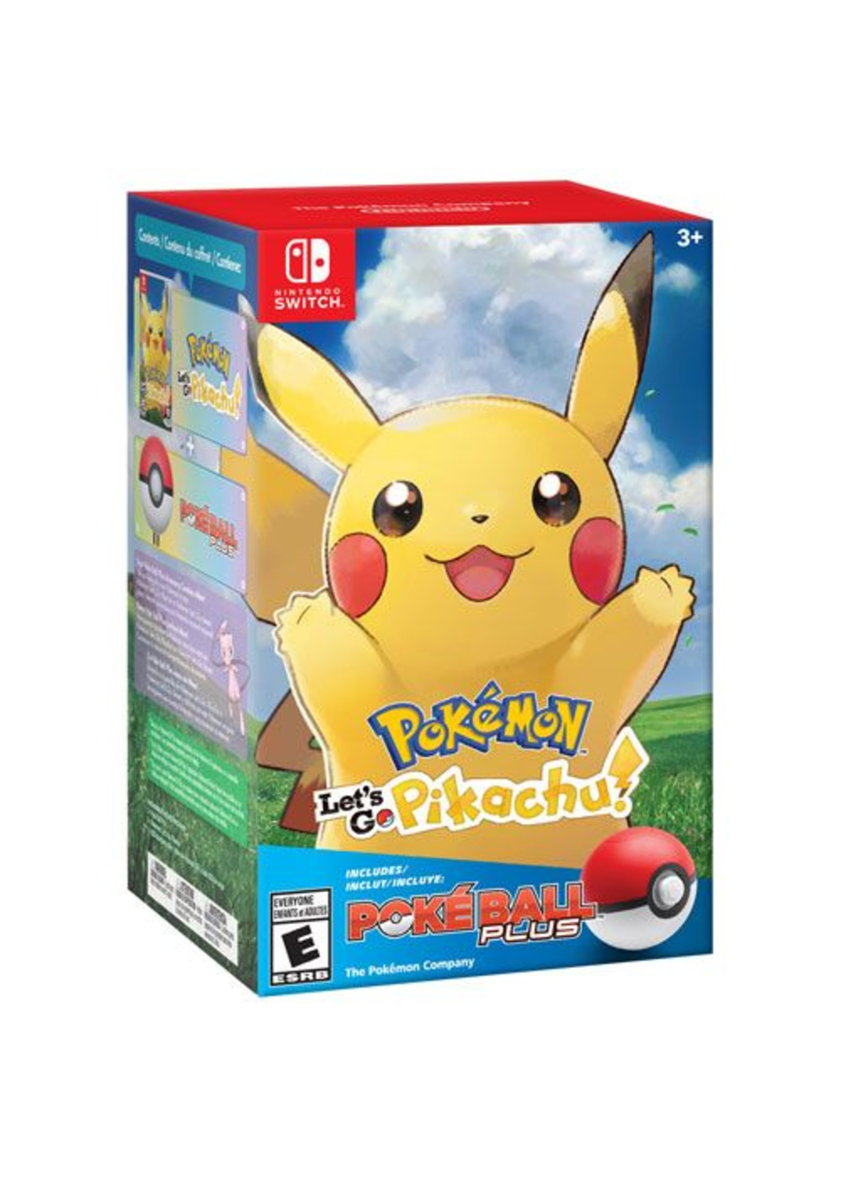 Pokemon Let's Go Pikachu Poke Ball Plus Bundle - SWITCH NEW