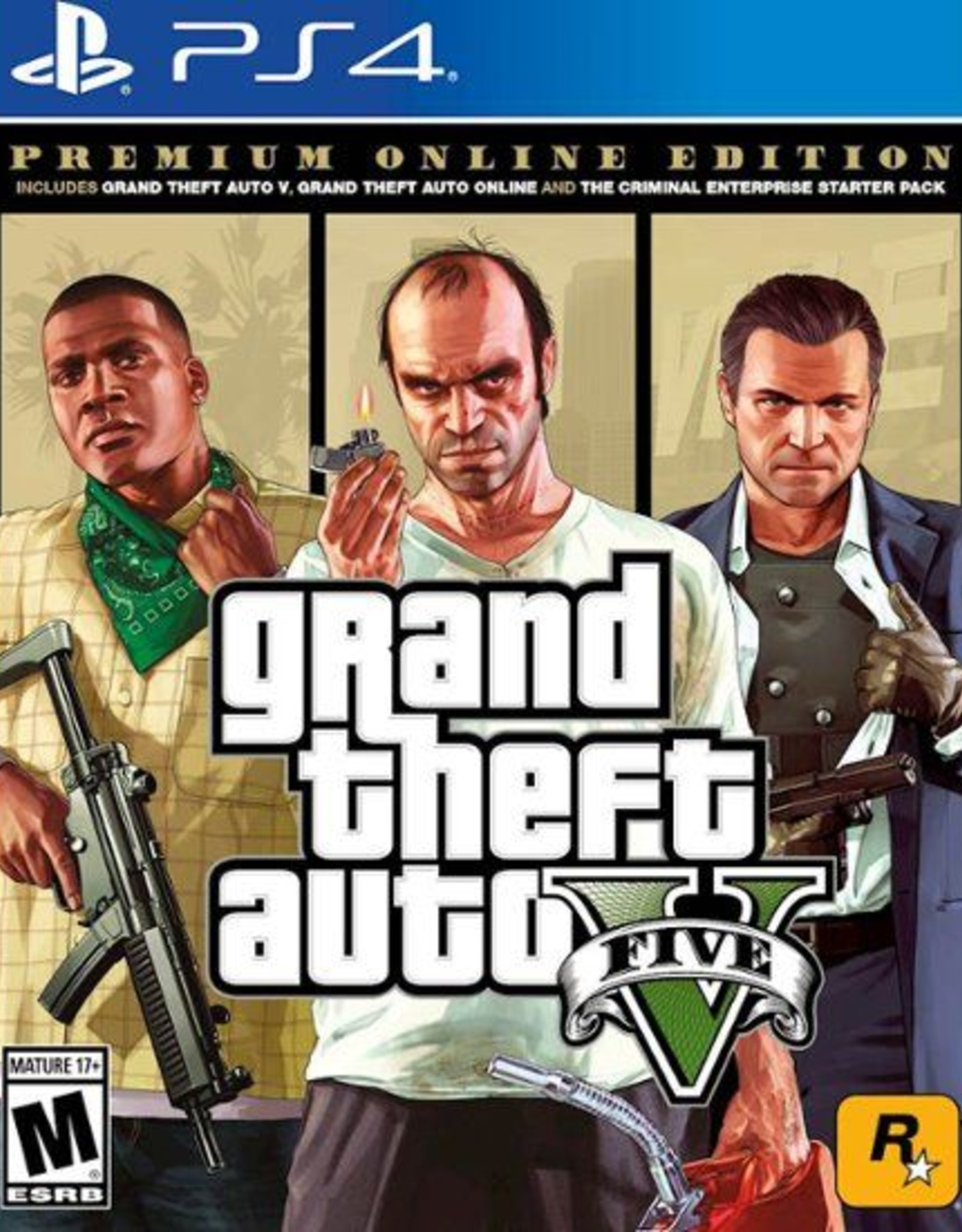 GTA Grand Theft Auto 5 Premium - PS4 NEW