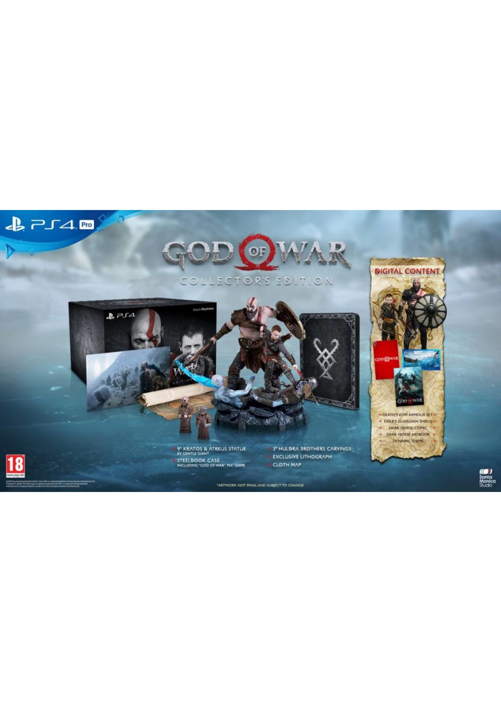 God of War Collector's Edition - PS4 NEW