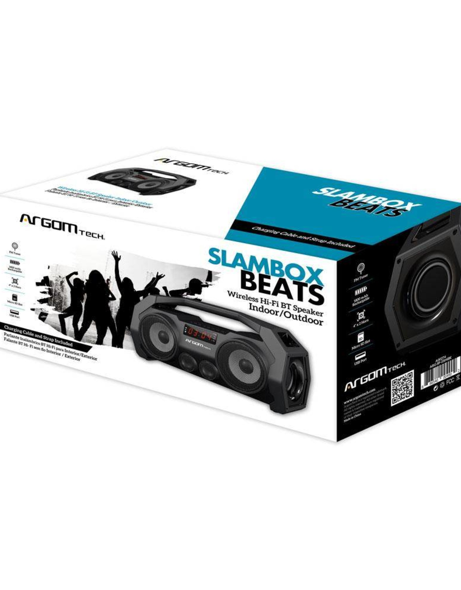 Argom Tech Bluetooth Cyclone Beats Argom Speaker