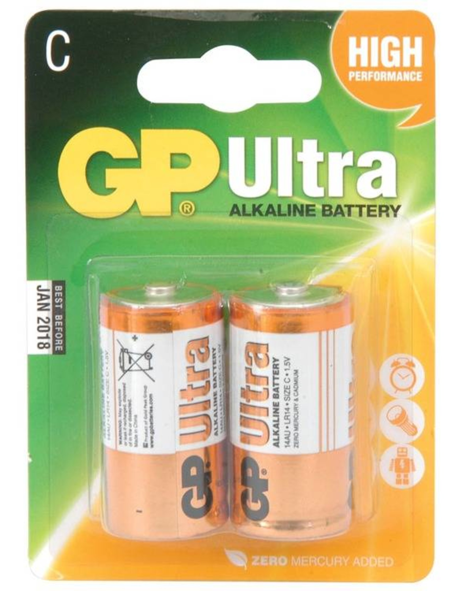 GP GP Alkaline C 2 Pk Battery