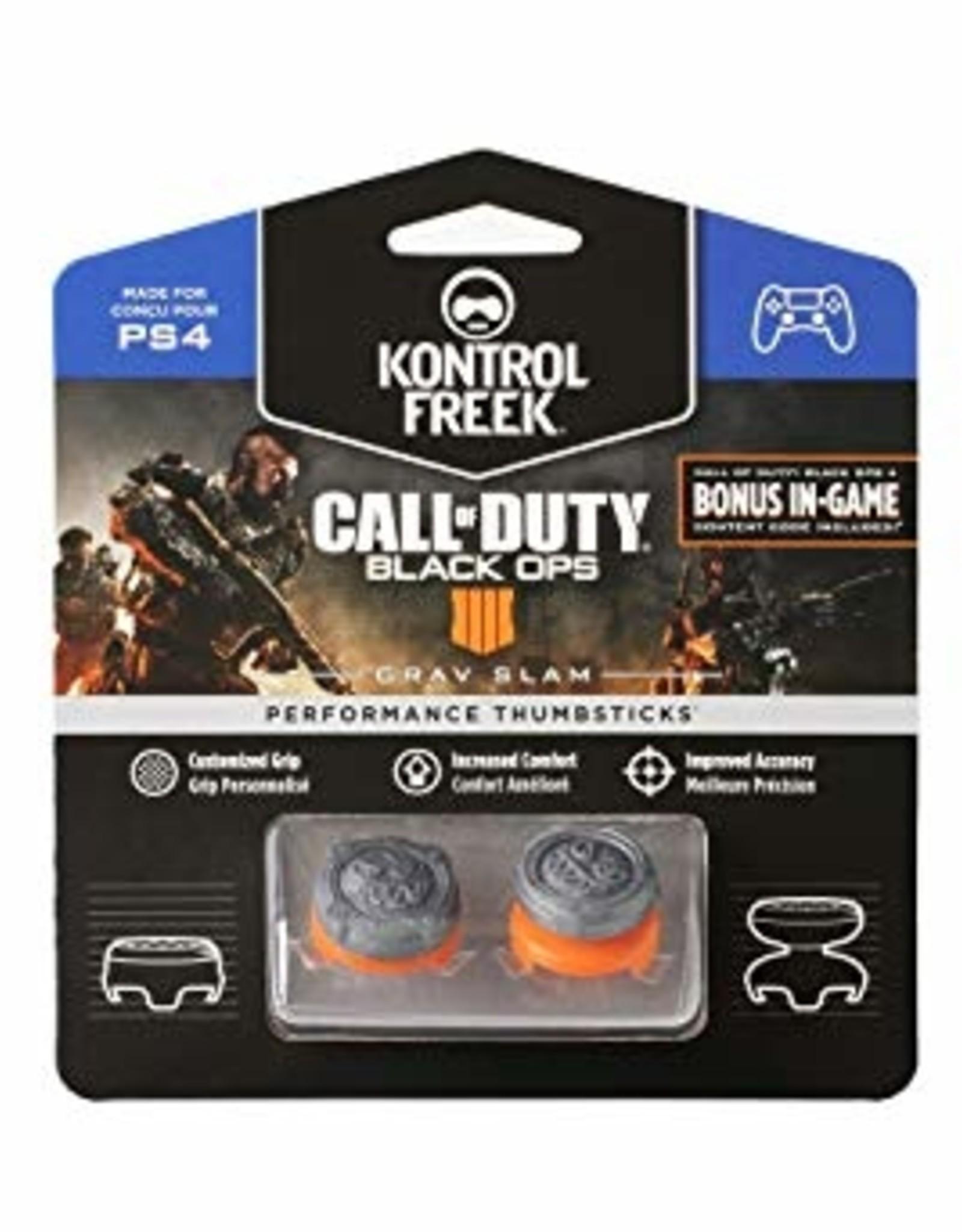 KontrolFreek PS4 FPS CoD Black Ops 4 Grav Slam 1 High Rise 1 Mid Rise Thumb Grip Analog Cover