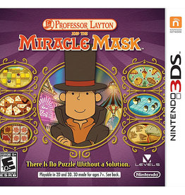 Professor Layton & The Miracle Mask - 3DS PrePlayed
