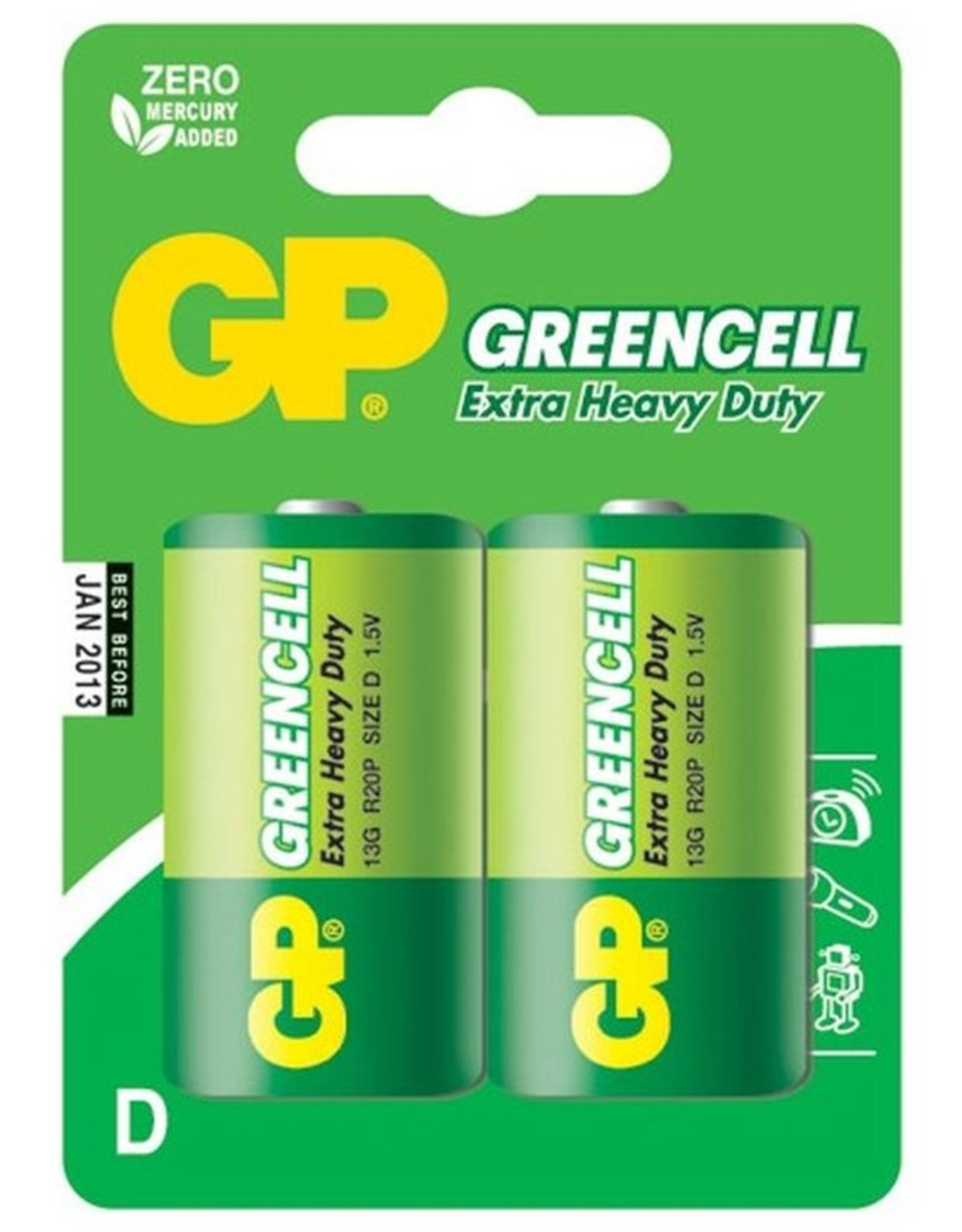 GP GP Greencell D 2 Pk Battery