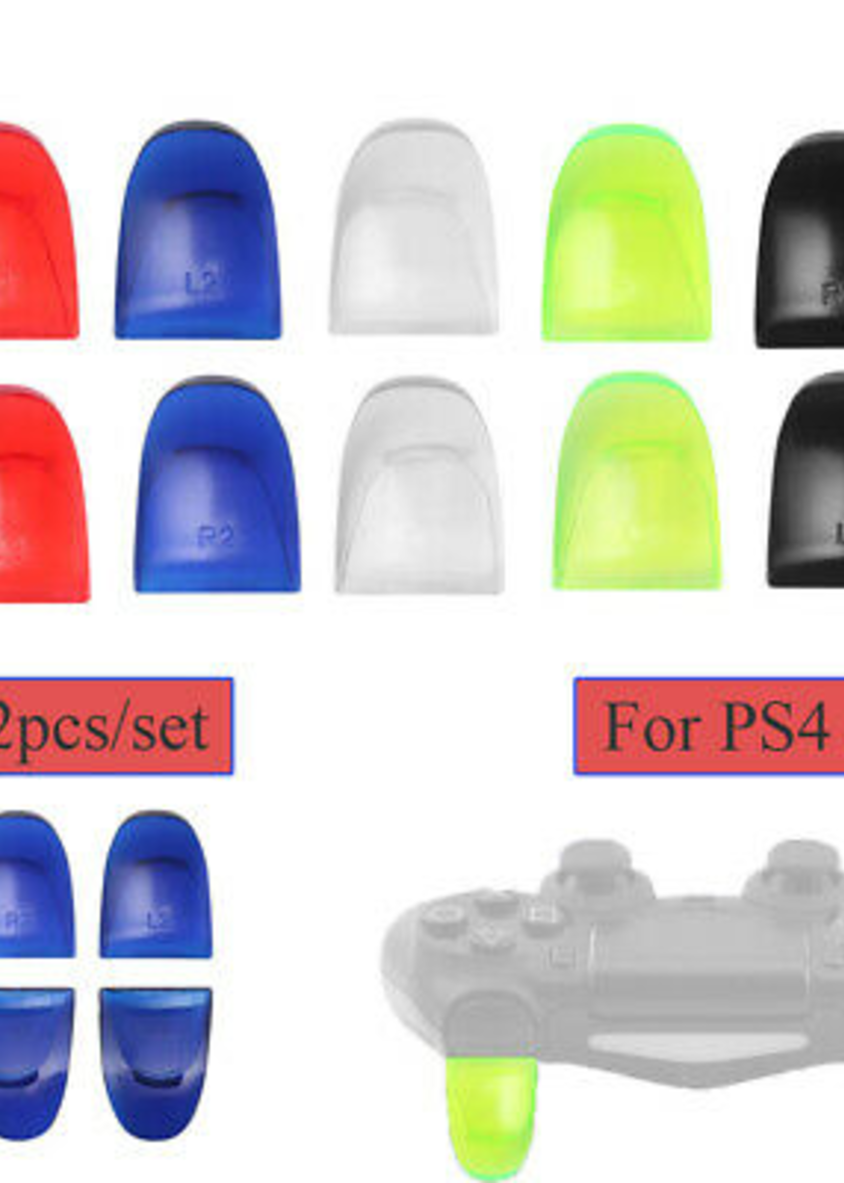 ACC-PS4 Pro Trigger Extenders 2G (CUH-ZCT2) (Blue / Red)