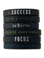 Motivational Wrist Band (1 PC) Success / Focus / Believe