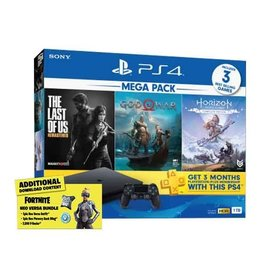 Sony PS4 Slim System 1TB 3 Hit Games Bundle - God of War, The Last of Us & Horizon Zero Dawn