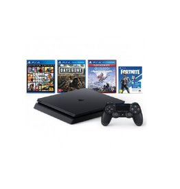 Sony PS4 Slim System 1TB Mega Pack Bundle - GTA 5, Days Gone, Horizon Zero Dawn, Fortnite Versa Bundle & 3 Month PS Plus