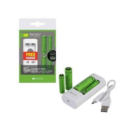 GP GP Battery Charger Special  w/2 AA + 2 AAA Batteries