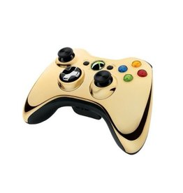 Microsoft XB360 Wireless Controller Chrome Gold (used)