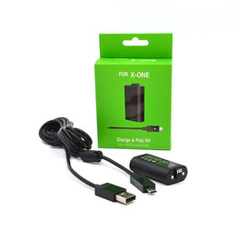 XBOne Play and Charge Kit 1200 MAH Battery Pack w/ Charge Cable
