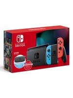 Nintendo Nintendo Switch System Bundle w/ Case + 12 Month Online (Neon)