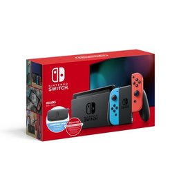 Nintendo Nintendo Switch System Bundle w/ Case + 12 Month Online (Neon)