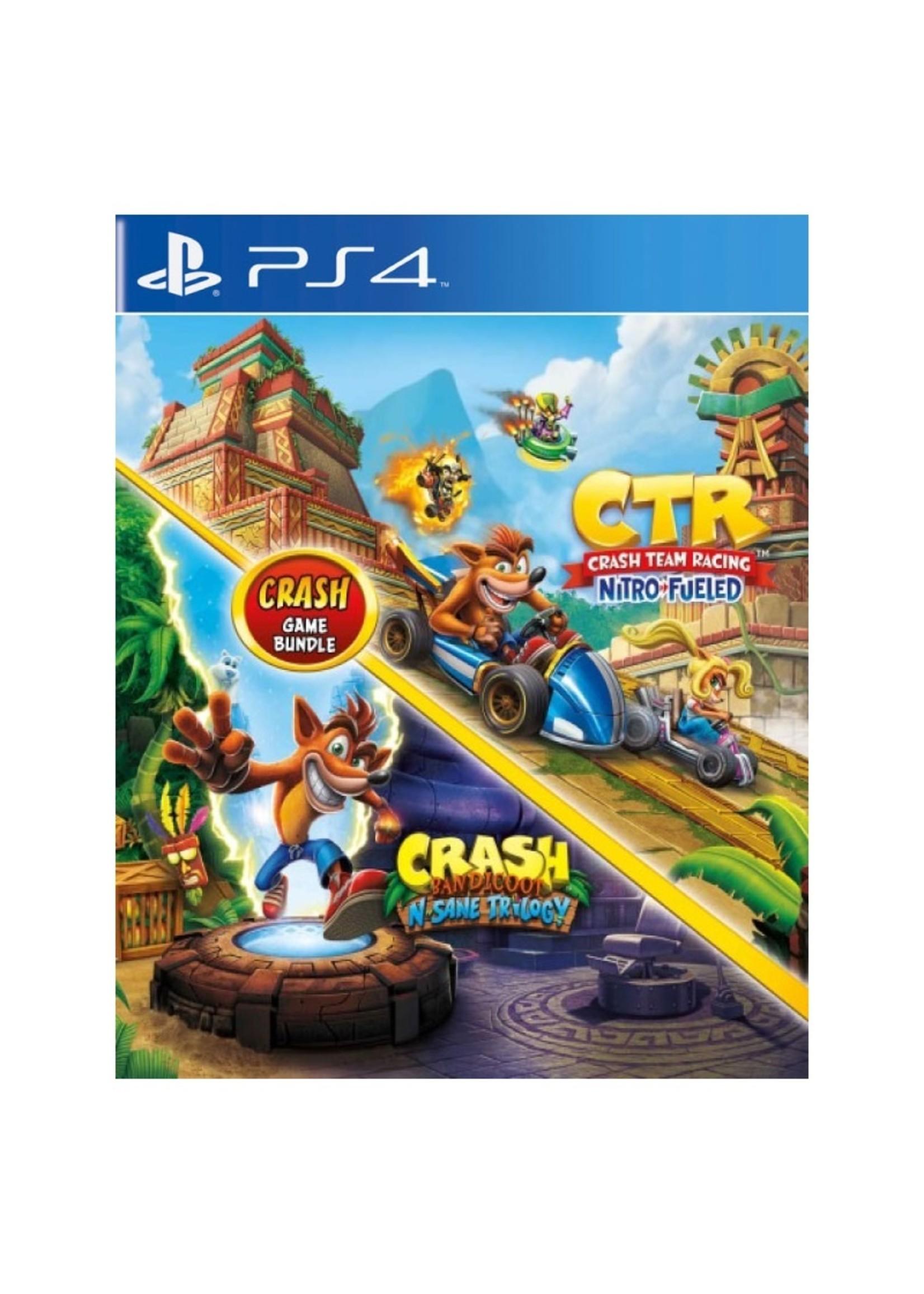 Crash N sane Trilogy + Team Racing Nitro Fueled - PS4 NEW