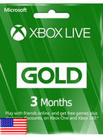Microsoft Microsoft Xbox 3 Months Gold Membership