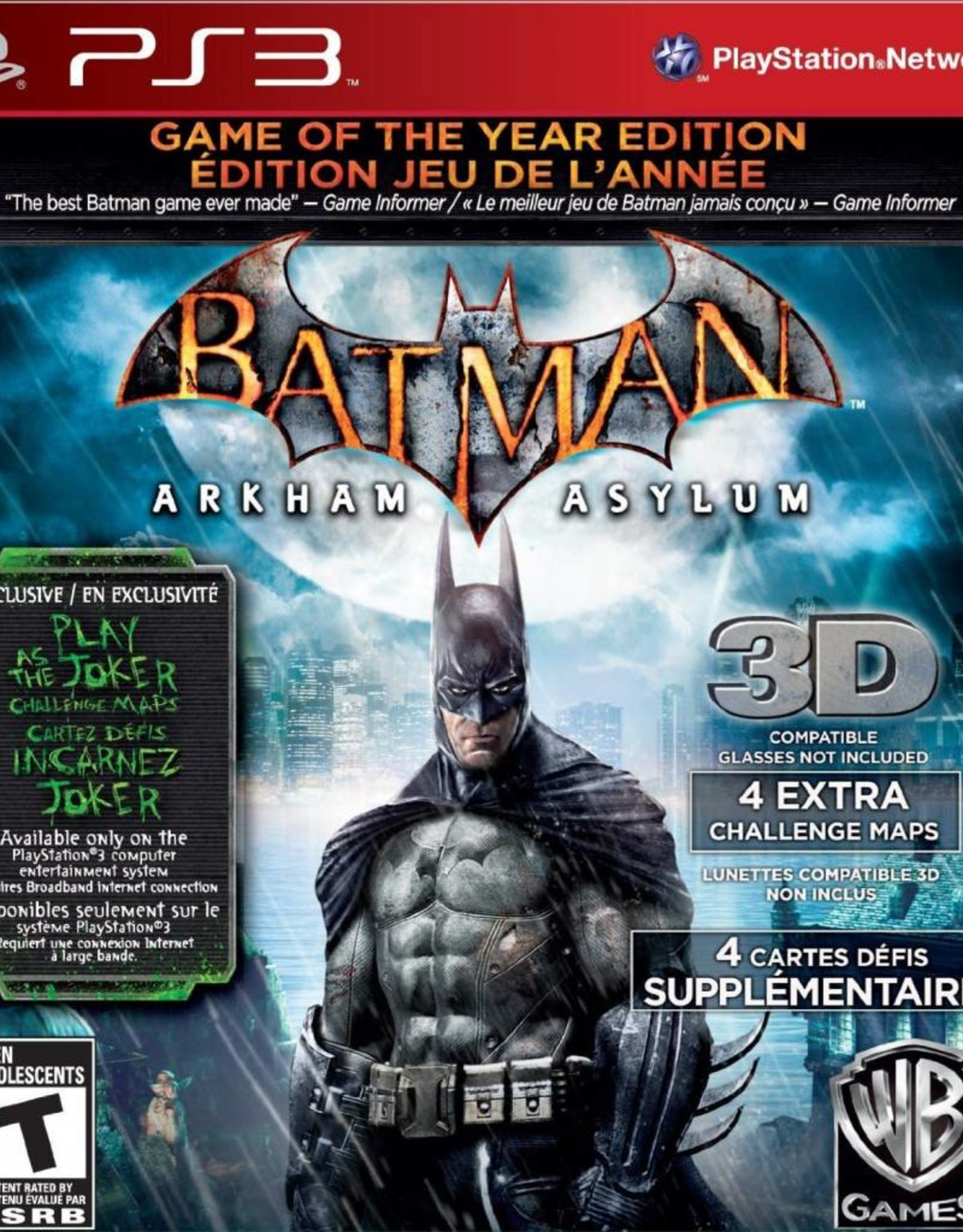 Batman: Arkham Asylum Game of the Year Edition - PS3 NEW