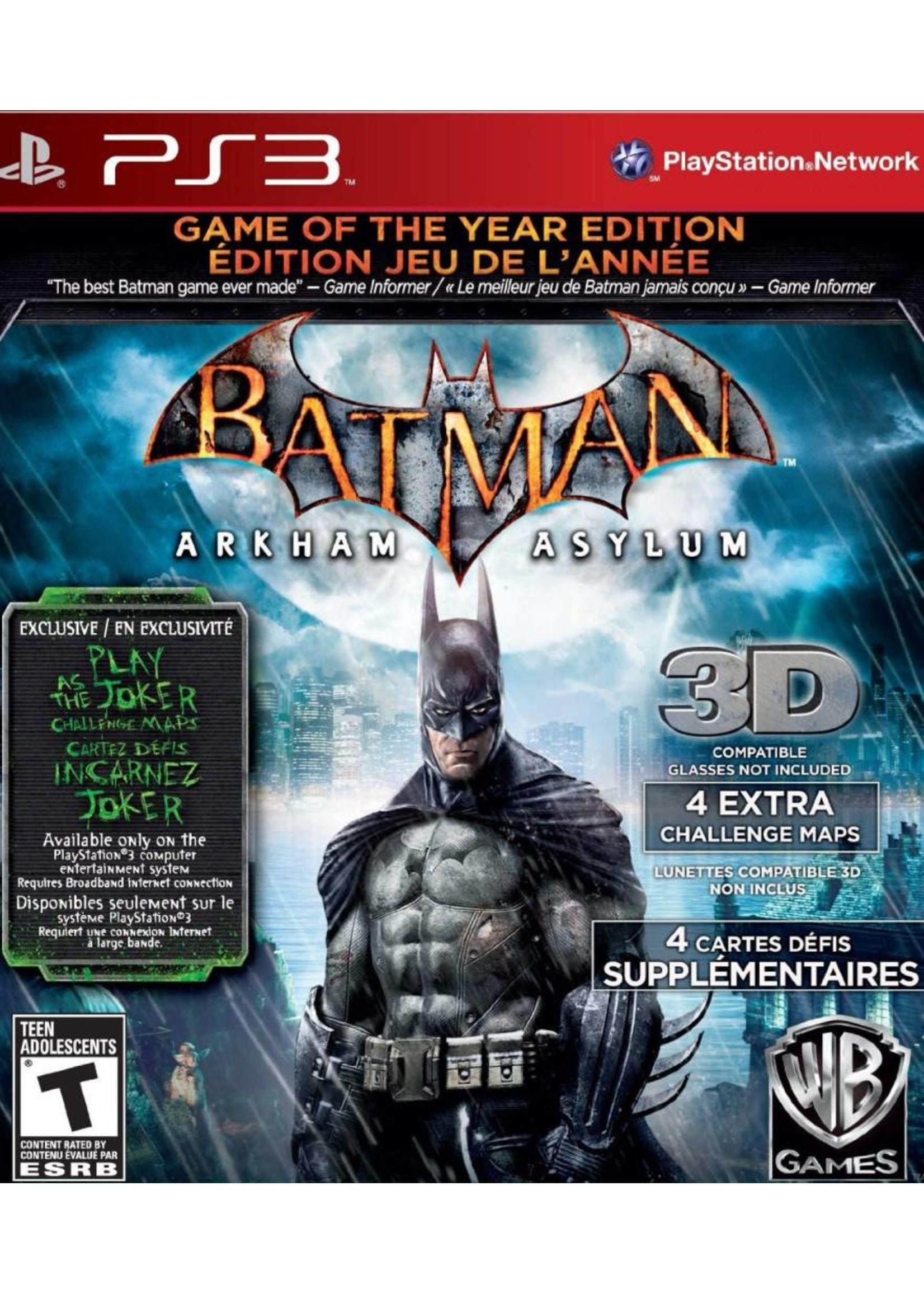 Batman: Arkham Asylum Game of the Year Edition - PS3 NEW
