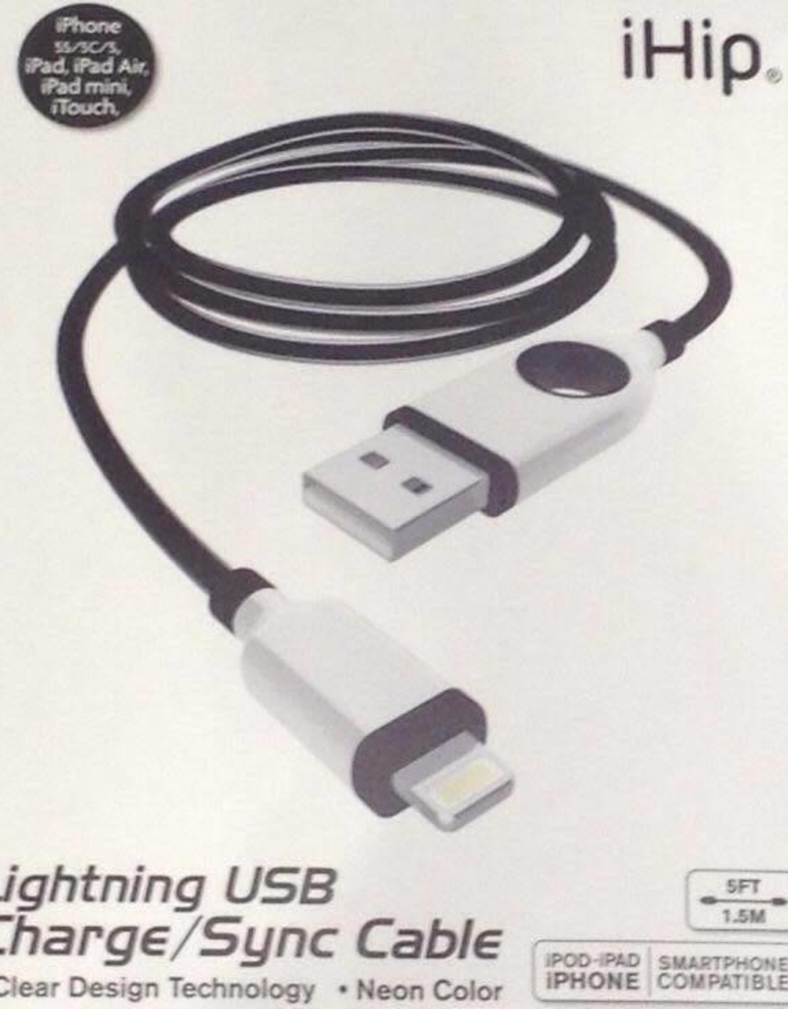 Apple 8 pin USB 5 ft Cable