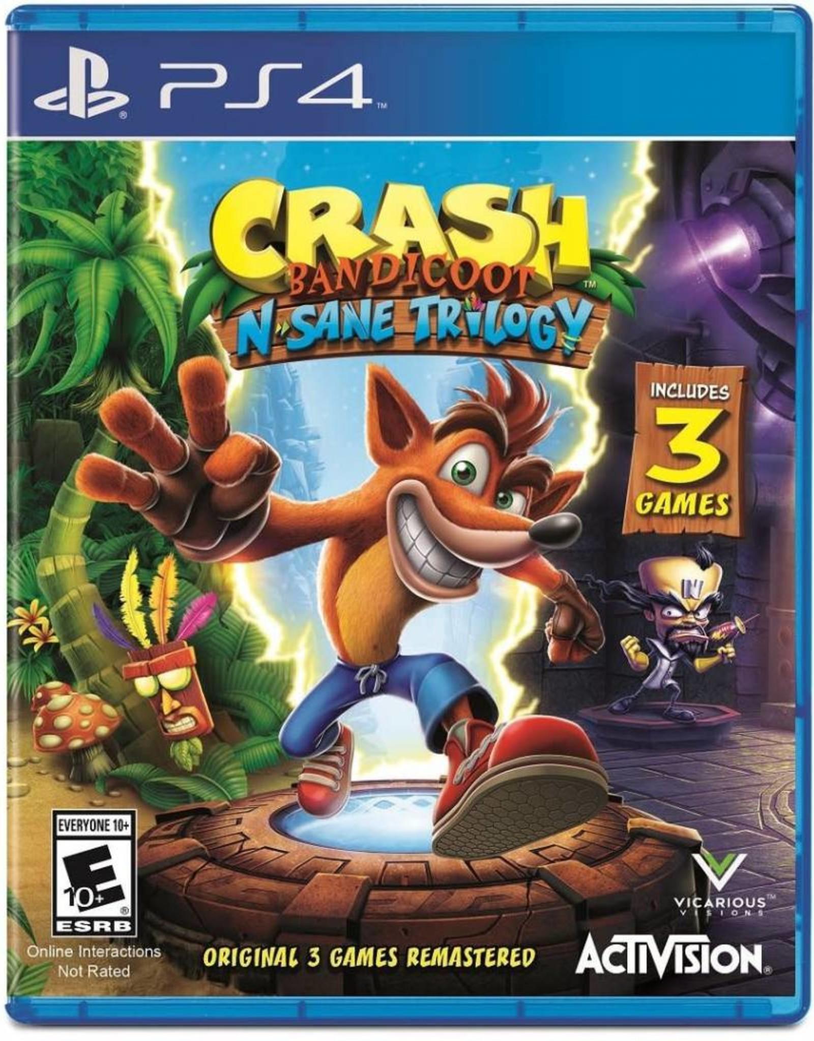 Crash N Sane Trilogy - PS4 PrePlayed