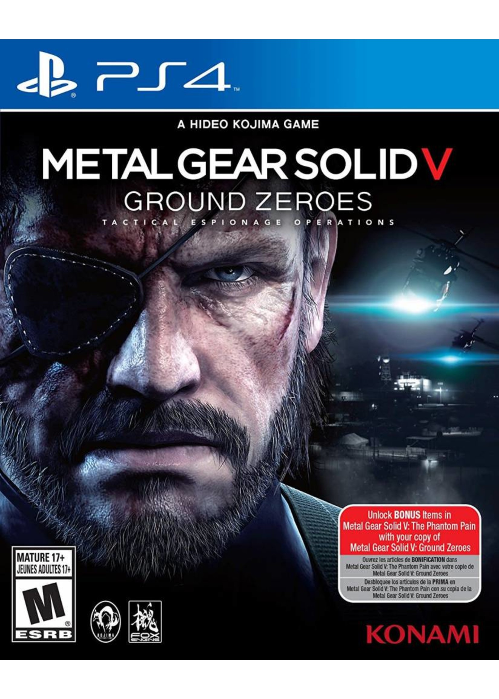 Metal Gear Solid 5: Ground Zeroes - PS4 PrePlayed