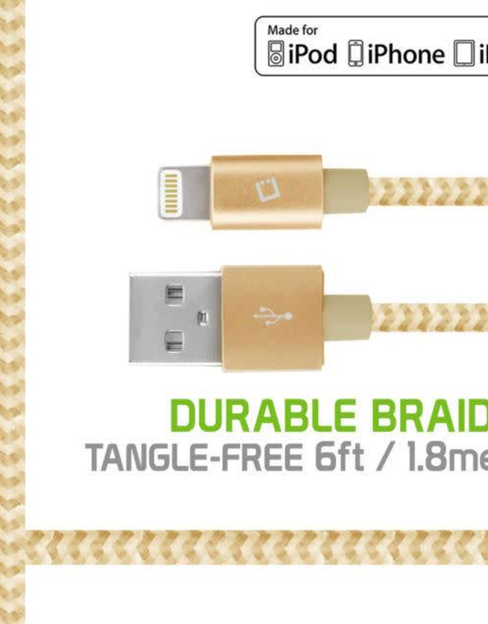 Apple 8 pin Braided 6 FT Cable