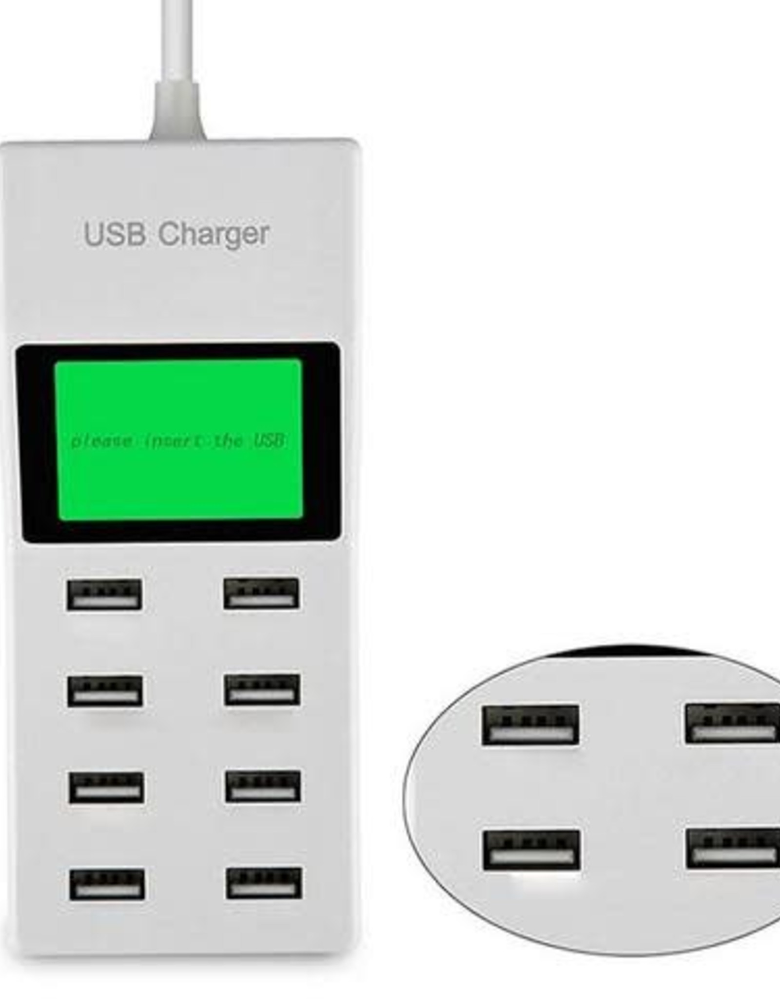 8 Port USB 9.2 A w/LCD Charger