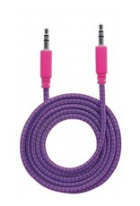 Cable-6ft Braid Auxilary 3.5mm