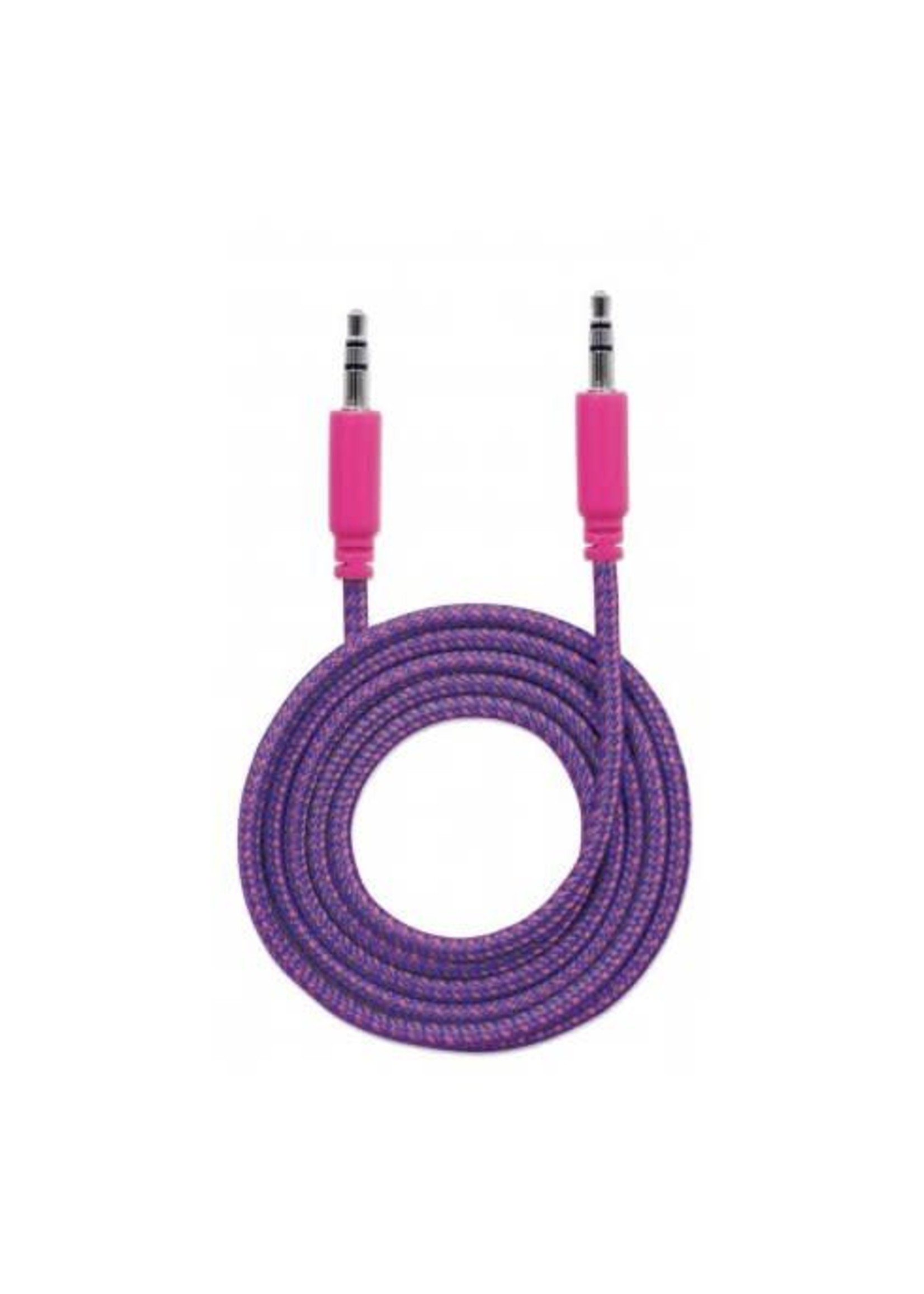 Cable-1m Auxilary AUX 3.5mm w/ Mic support (4 rings)