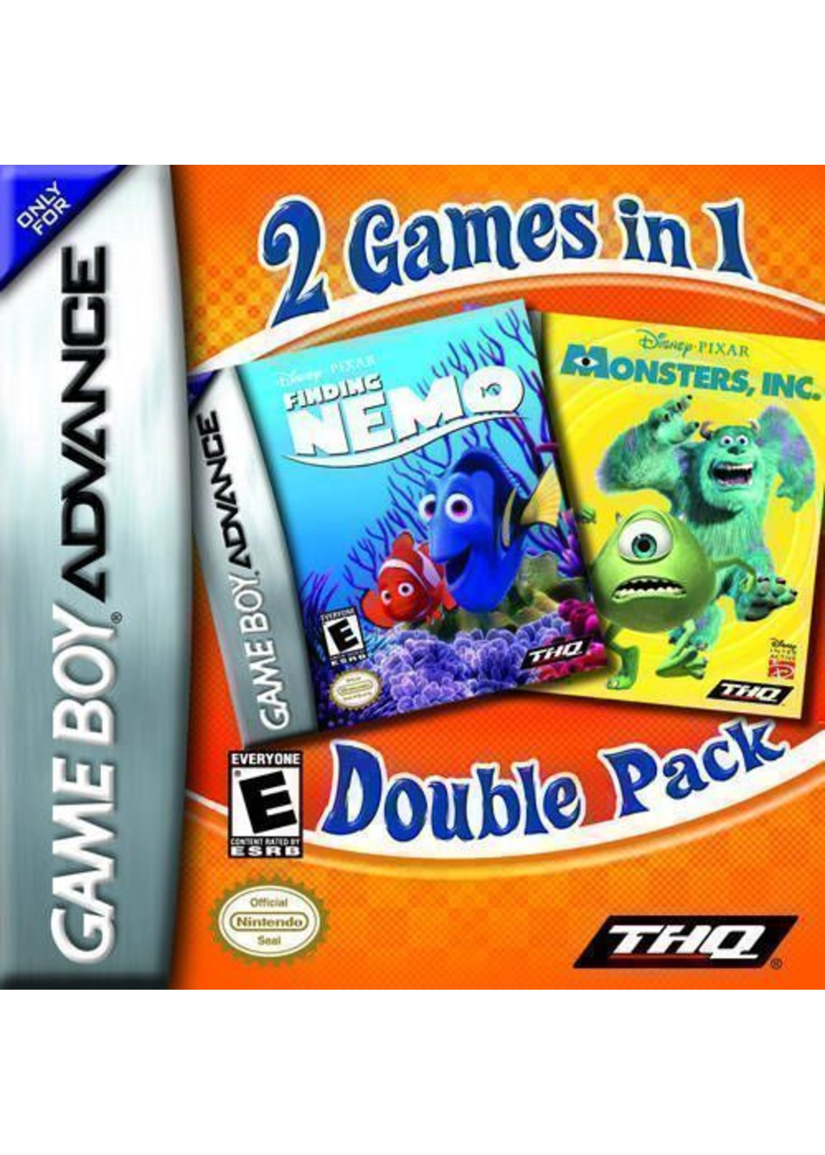 Monsters Inc. & Finding Nemo Double Pack - GBA PrePlayed
