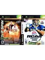 NCAA Football 2005 / Top Spin - XBOX PrePlayed