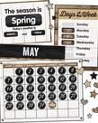 Industrial Chic Calendar Bulletin Board