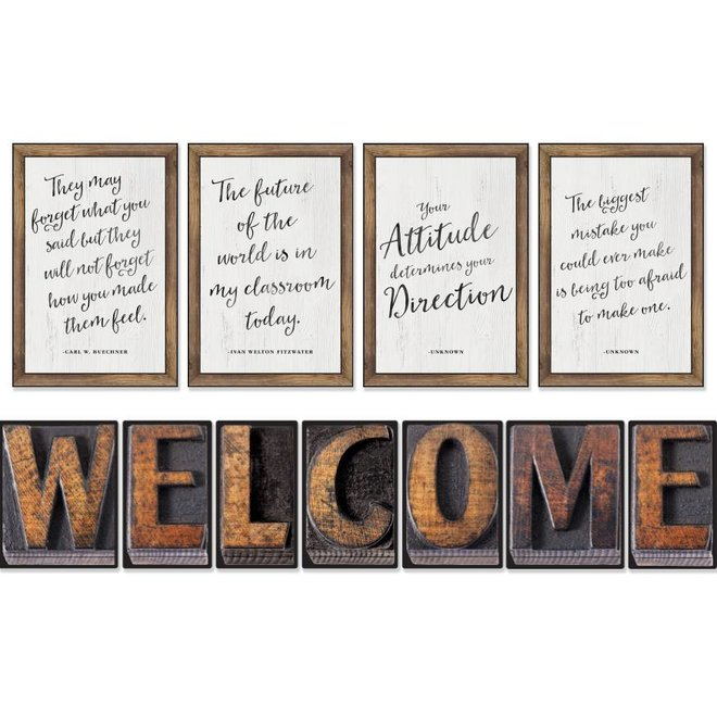 Industrial Chic Welcome Bulletin Board