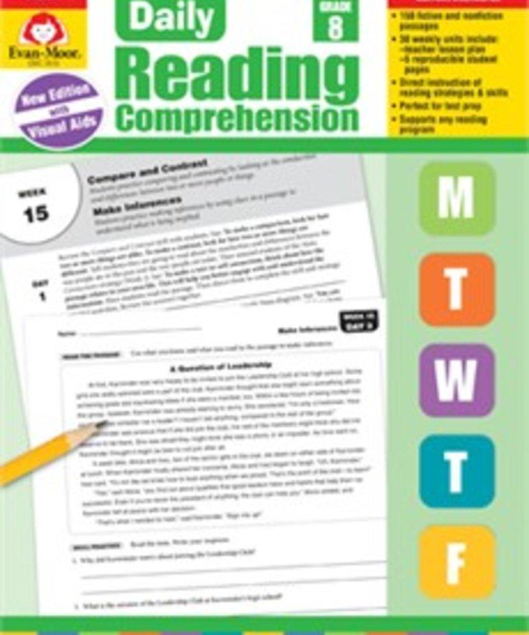Evan-Moor Daily Reading Comprehension-Grade 8