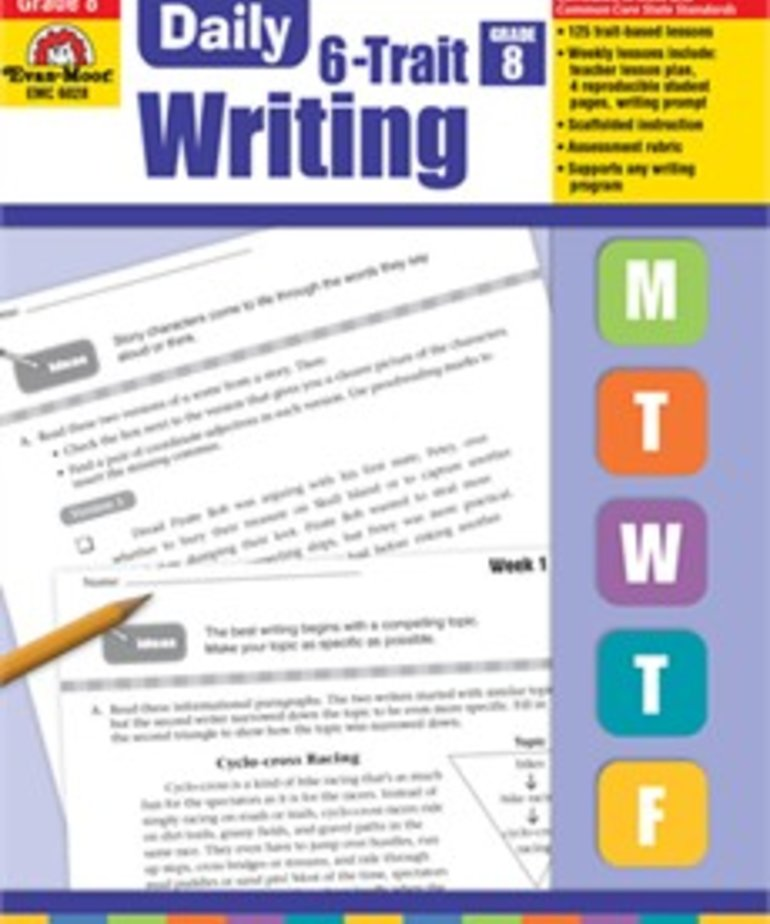 Evan-Moor Daily 6 Trait Writing- Grade 8