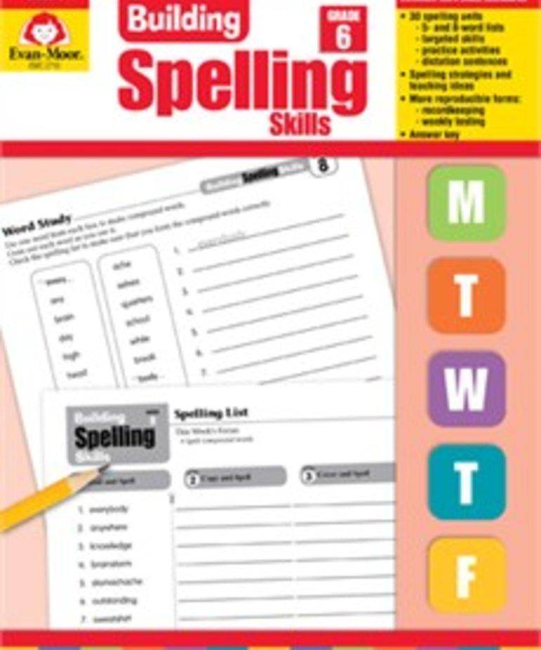 Evan-Moor Building Spelling Skills- Grade 6