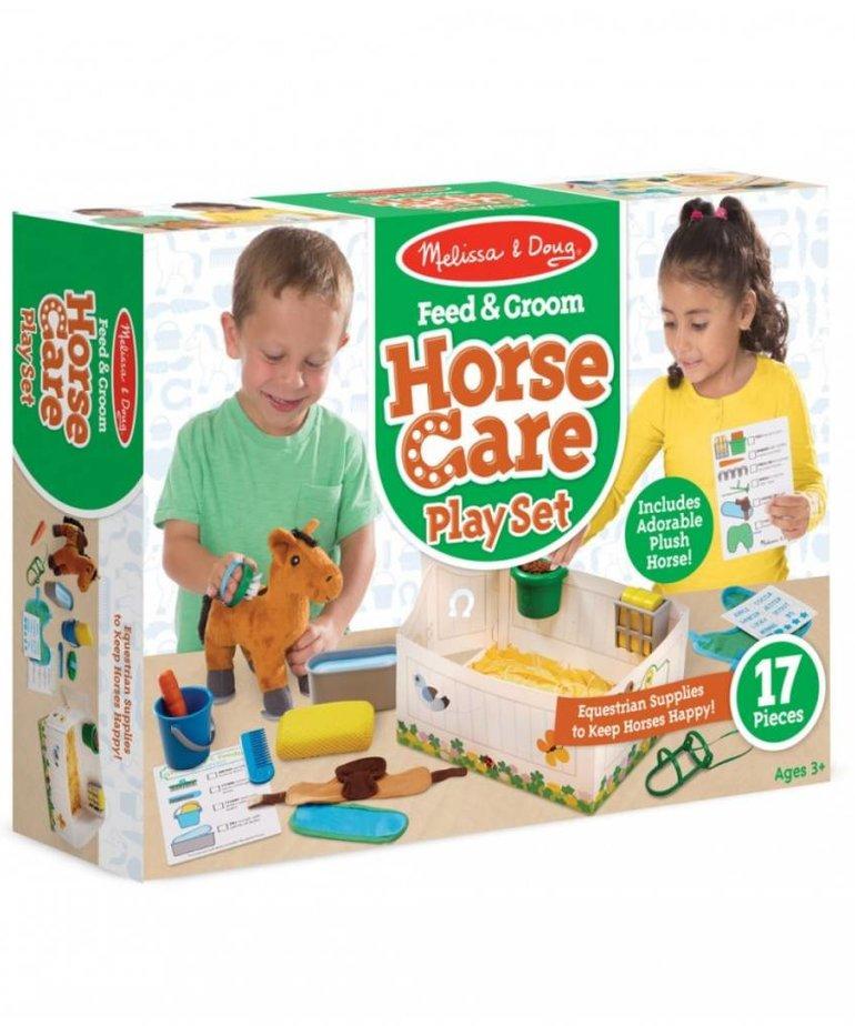 Melissa & Doug Feed & Groom Horse Care Play Set