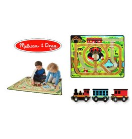 Melissa & Doug Around the Rails Train Rug