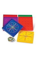 "Learning Resources 5"" Double-Sided Assorted Geoboards, Set Of 6"