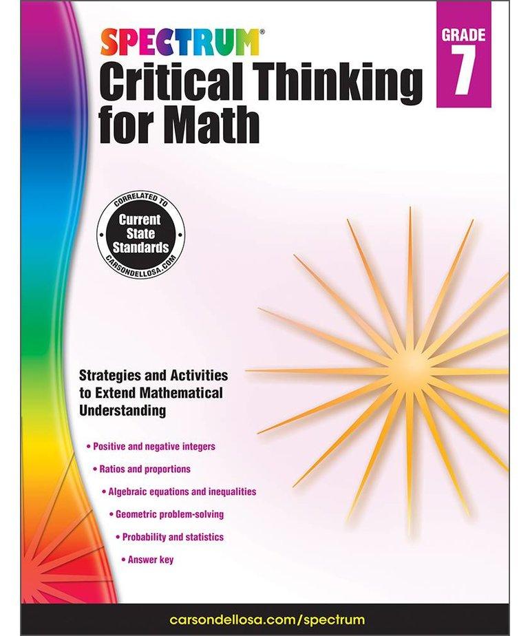 Critical Thinking for Math- Grade 7