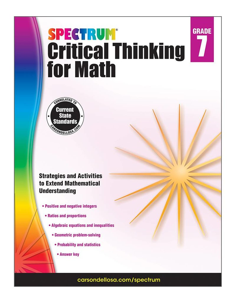 Critical Thinking for Math- Grade 7