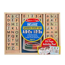 Melissa & Doug Wooden ABC Activity Stamp Set