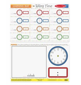 Melissa & Doug Learning Mat-Telling Time