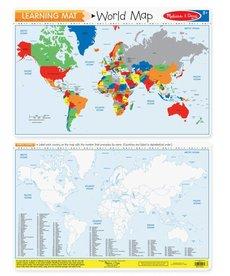 Melissa & Doug Learning Mat- World Map