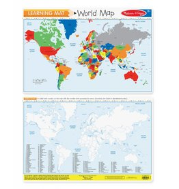 Melissa & Doug Learning Mat- World Map