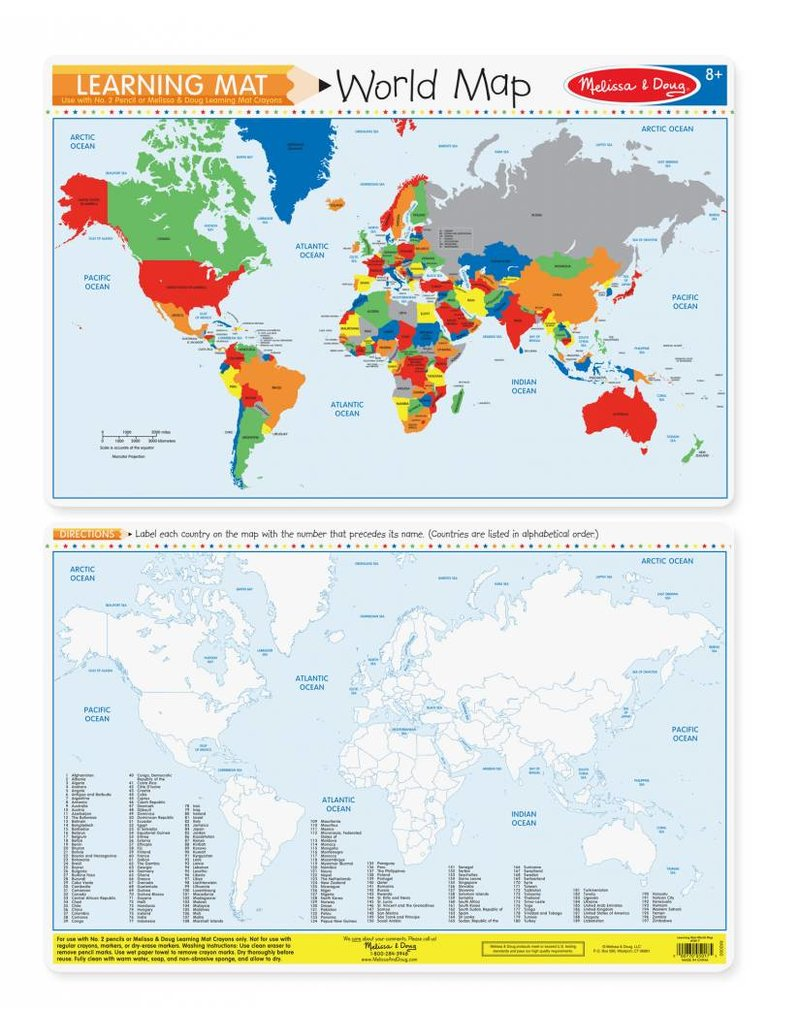 Melissa Doug Learning Mat World Map