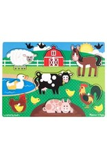 Melissa & Doug Wooden Peg puzzle- Farm