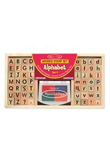 Melissa & Doug Alphabet Stamp Set  (Wooden)