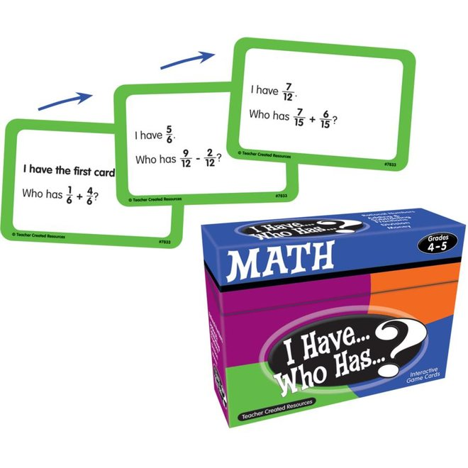 I Have Who Has...Math Gr 4-5