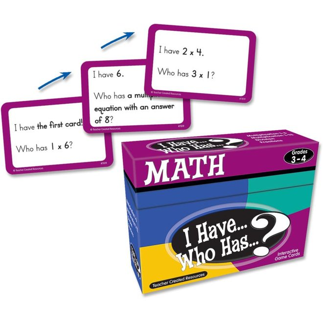 I Have Who Has...Math Game Grade 3-4